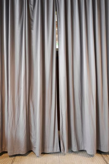 Brown Curtain At Home