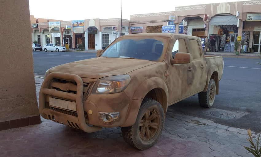 Pick up wrapped with vinyl foil, desert sand style, Morocco Ouarzazate Accuracy, Adult, Adults, Art, Automobile, Business, Coating, Colour, Craft, Desert, Design, Finance, Foil, Image, Improvement, Industry, Man, Mode, Motor, One, Only, Outdoors, People, Pick, Sand, Styled, Transport, Transportation, Up, Vehicle, Vinyl, Work Architecture Built Structure Car Day Land Vehicle Mode Of Transport No People Outdoors Transportation