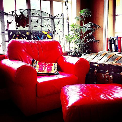 Reading Time Cozy Place Redchair Colors Red Windows IPhoneography Whimsical World Eye4photography  Time To Read