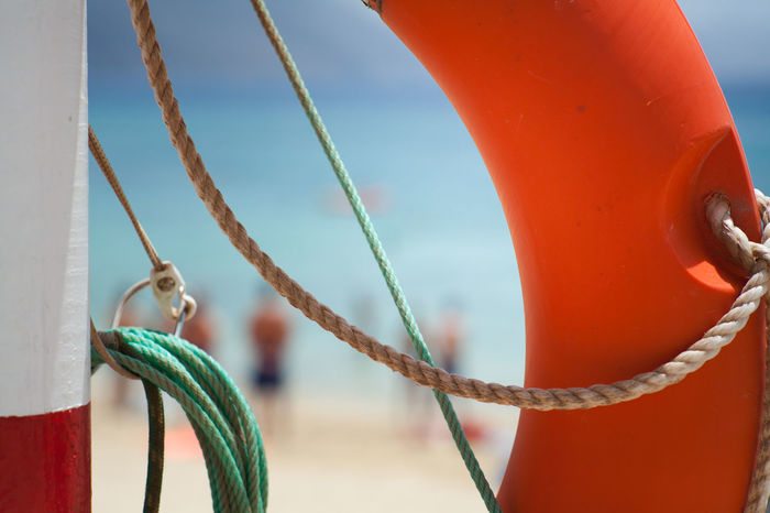 Beach Photography Life Is A Beach Orange Sky Safety First! Summer Views Buoy Lifesafer Outdoors Rope Water