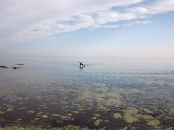 Water Outdoors Sky Beauty In Nature Horizon Over Water Kayaker Kayak Puglia Puglia - South Italy Salento, Italy