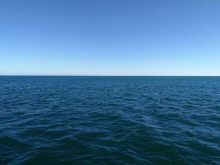 Clear Sky Sky Blue Horizon Copy Space Seascape Sea Water Horizon Over Water Atlantic Ocean Ocean Backgrounds