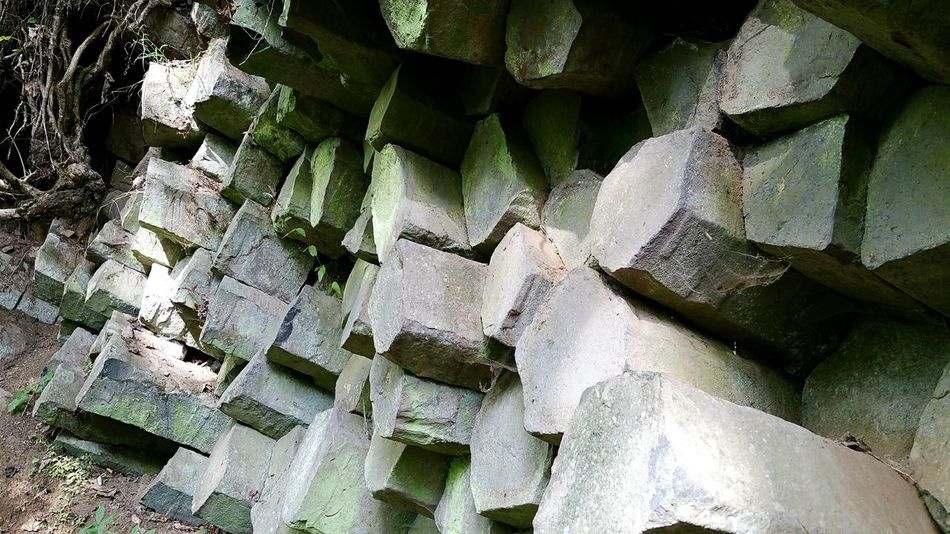 EyeEm Selects Full Frame Backgrounds Basalt Basalt Columns Basalt Rock Basaltic Rock Basaltic Prism Basaltmountain Gangolfsberg Biosphärenreservat Hochrhön-Hessen Rhoen Rhön No People Close-up Day