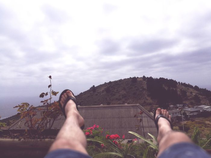 momento de tranquilidad y paz, una mesedora frente a esta vista y la brisa helada. Freshair Freedom Love Love ♥ Men Me Portrait Quality Time Winter Relaxing Young Adult Illuminated Sky Cloud - Sky Nature Zapallar Chile Legs Air Mountain