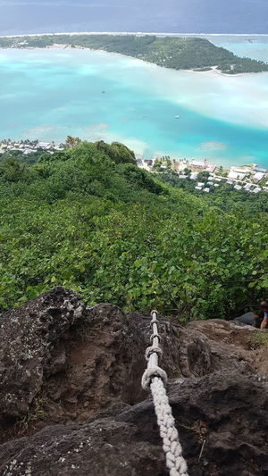 Tahiti Water Green Color Tree Sky Vacations French Polynesia Nature Maupiti Mountain Sea Blue Mer Travel Destinations