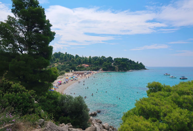 Kaviou beach, Sithonia - Greece GREECE ♥♥ Landscape_Collection Nature Tourist Beach Blue Chalkidiki Cloud - Sky Greece Holiday Kaviou Beach Landscape Nature Nautical Vessel Outdoors Scenics - Nature Sea Sithonia Sky Tourism Tranquil Scene Tranquility Transportation Travel Water