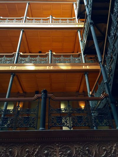 Intricate Architecture Details of Old Building. Landmark Historical Building Famous Place Indoors  No People Low Angle View Architecture Building Design Architectural Feature Ornate Full Frame Travel Destinaton Repetition Balcony Directly Below Film Location