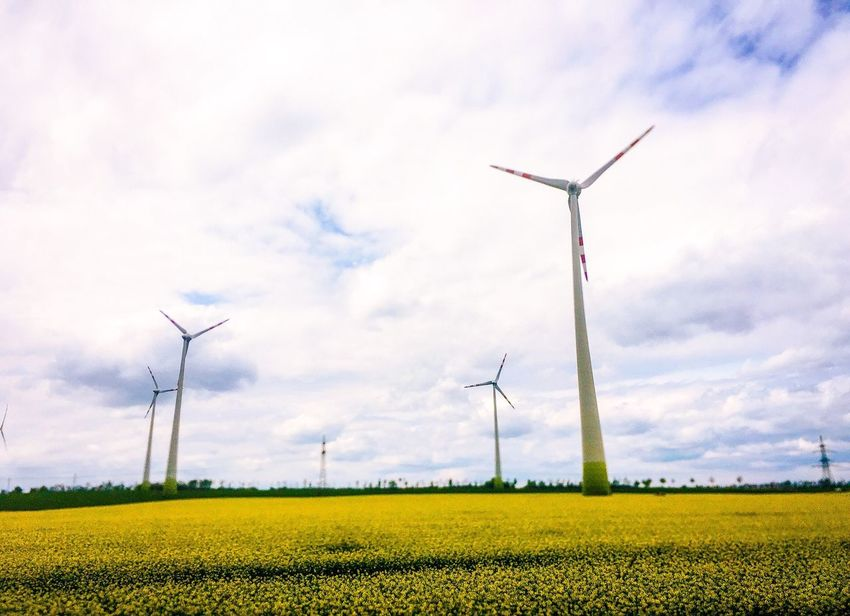Wind Power Alternative Energy Wind Turbine Environmental Conservation Fuel And Power Generation Windmill Field Industrial Windmill Rural Scene Sky Cloud - Sky Agriculture Nature No People Outdoors Technology Traditional Windmill Landscape Day