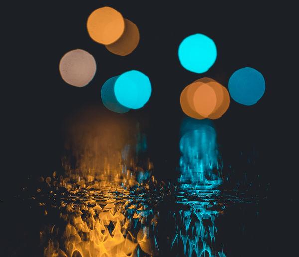 Close-up of illuminated water