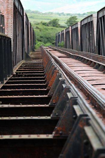 Industrial Heritage , Old Railroad Bridge in Cahersiveen  Ireland Steel Abandoned Places Old Bridge Railroad Track No People Rail Transportation Railroad Track Transportation Metal Bridge Tracks