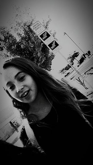 I'm sorry I just really love black and white! Young Adult Front View Long Hair Toothy Smile Smiling Looking At Camera Carefree Enjoyment Day Tree Young Women Person I'm Back Eyeem