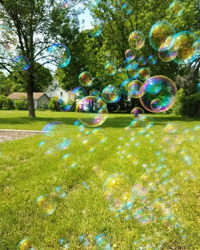 Live For The Story Childhood Memories Leisure Activity Summer Fun Bubble Multi Colored Bubble Wand Outdoors Spring Photography Springtime Focus On Foreground Holiday Memories Nature No People Bubbles Bubbles... Bubbles...Bubbles.... Rainbow Colors Rainbow Colours Having Fun Enjoying Life Enjoying The Sun Playing Playtime NeverGrowUp Having Fun With Kids