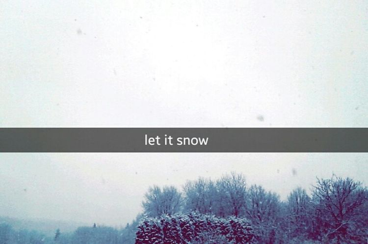 winter's back Relaxing Winter Snapchat Snow