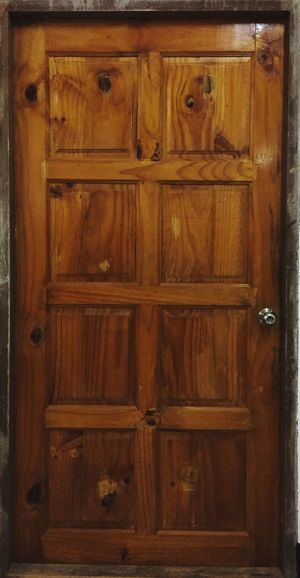 Close-up of closed door