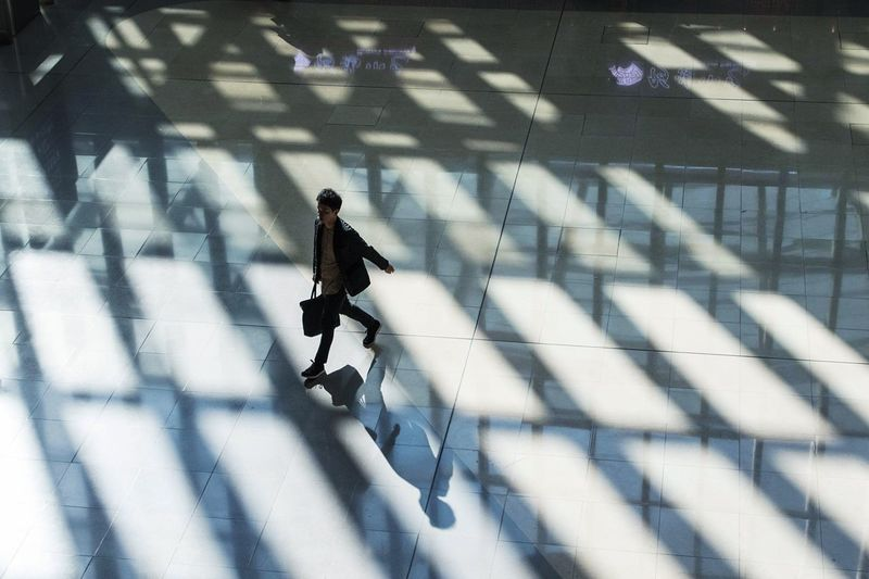 Running man. Walking One Person Real People Photography HongKong Art Architecture Shadow Light And Shadow Design Interior Design Interior