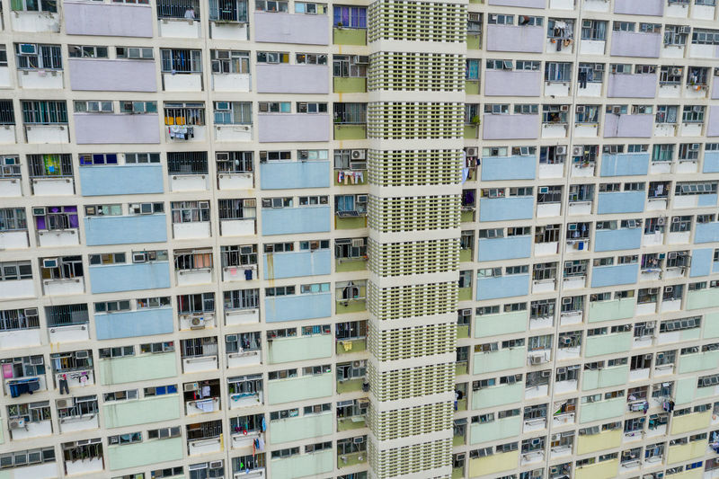 Hong Kong Estate Hung Chơi Building HongKong Rainbow Kowloon Colorful Architecture City Blue China Color Kong Hong People Modern Park Home House Wall Urban ASIA Residential  Outdoor Object Green Housing Public Apartment