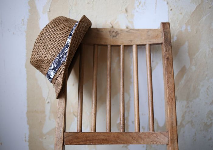Architecture No People Built Structure Day Close-up Conceptual Wall Art Backgrounds Strawhat Wallpapers Handmade Wooden Chair Background Still Life Photography Wooden Texture Still Life Hat Still Chair Home Interior Focus On Foreground