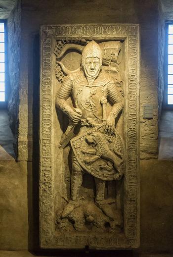 Grabplatte Ludwigs II (der Eiserne) Art And Craft Carving Eisenach Grabplatte Gravestone History Human Representation Indoors  Ludowinger Male Likeness No People Sculpture Statue Wartburg