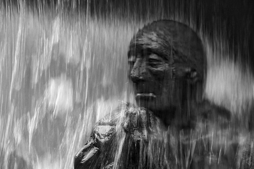 when it rains, it pours The Thinker Fountain_collection Fountain B&w Fountain When It Rains It Pours Blurred Motion Day Long Exposure Motion Nature No People Outdoors Statue Water Waterfall Flowing Stream Under Flowing Water Human Representation Sculpted Male Likeness Female Likeness Rainfall Stream - Flowing Water Falling Water Sculpture Power In Nature Carving - Craft Product Idol