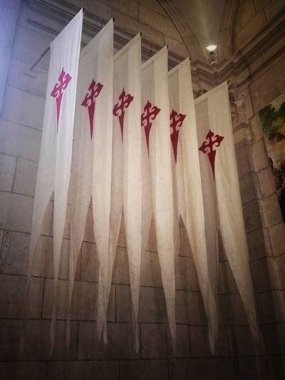 Templars Santiagodecompostela Cruzdesantiago Curtain Hanging Close-up Architecture Textile