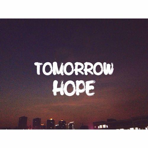 我往往 希望 明天会比今天开心
