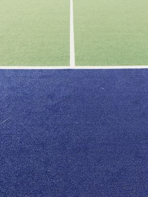 Sport Grass Playing Field Green Color No People Single Line Day High Angle View Plant Nature Outdoors Court Tennis Textured  Full Frame Absence White Color Close-up Blue Soccer Field