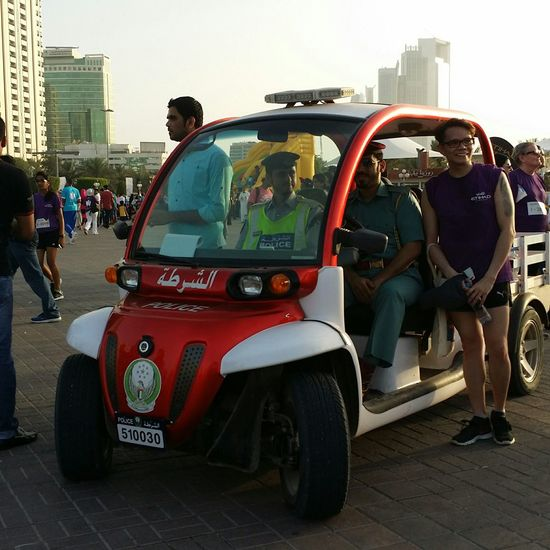 Uae,abudhabi Etihadairways 3rd Annual Charity Event Run For A Cause Outdoor Photography Police Electric Car