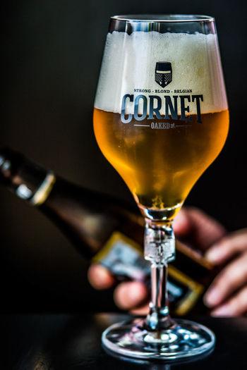 Beer Belgian Beer Close-up Cornet Food And Drink Freshness Indoors  Refreshment