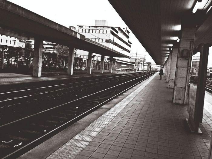 Desert Train Station in Brescia .. Nobody goes to work today?