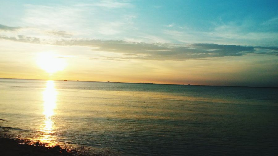 Sea Horizon Over Water Scenics Sunset Beach Be. Ready. Landscape Beauty In Nature Water Nature