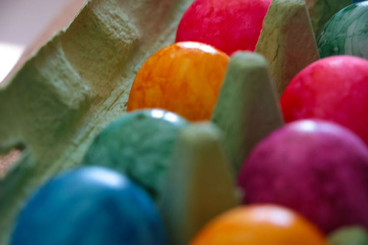 Detail shot of multi colored candies