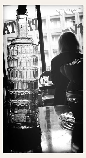 Blackandwhite Cafe Taking Photos Pisa