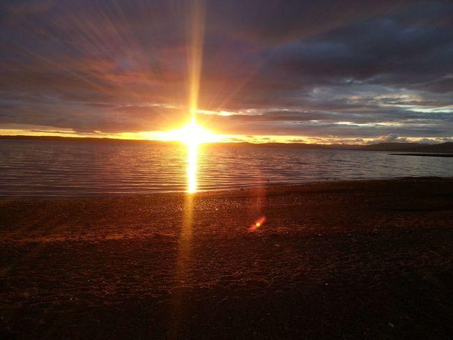 sunset Sun Cloud - Sky Beach Water Sky