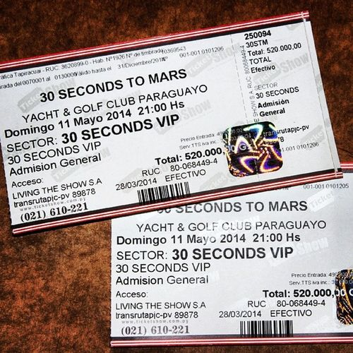MarsInParaguay 30stm 30secondstomars Jaredleto Echelon Music Rock Best  Thebest Paraguay Instagood Ticket