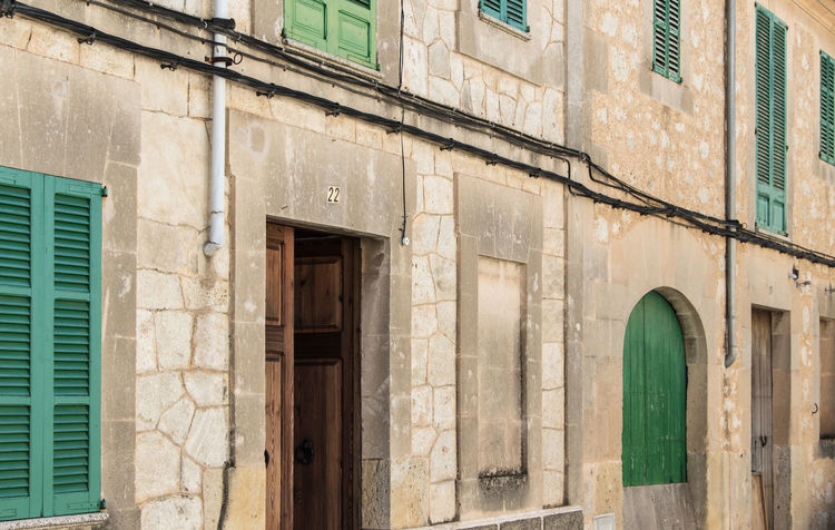 Montuiri, Mallorca Mallorca SPAIN Architecture Baleares Balearic Islands Building Building Exterior Built Structure City Day Door Entrance España House Low Angle View Montuiri No People Old Outdoors Residential District Wall Wall - Building Feature Window