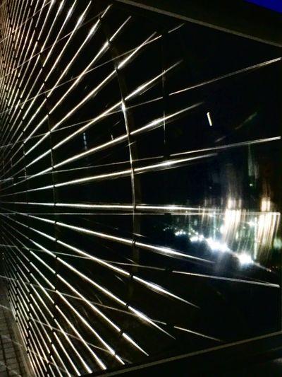 Distortion Reflection Mirror Nightphotography Shinjuku Tokyo
