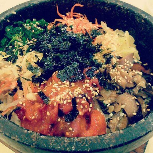 韩式章鱼石锅拌饭 Claypotrice Korea Koreanfood Seaweed octopus vegetables foodporn ipoh kimchi spicy restaurant delicious