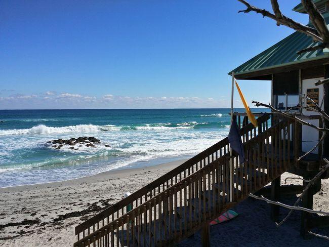 Ft Lauderdale Florida Beach Sea Water Scenics Travel Destinations No People Outdoors Atlantic Ocean Lifeguard Station Silhouettes Lifeguard Station Ocean Waves Beach View Lifeguard Hut