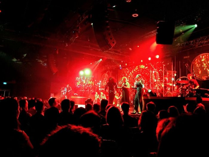 Popular Music Concert Fan - Enthusiast Musician Crowd Audience Performance Group Wireless Technology Illuminated Rock Music Applauding Pop Music