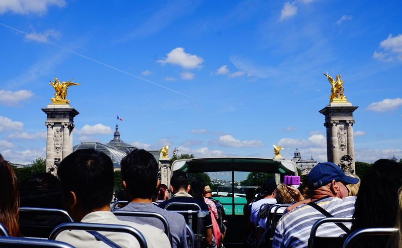 Bus Bus Tour Cloud - Sky Day Double Decker Bus Mode Of Transport Outdoors People People Sitting Person Sightseeing Sky Sky And Clouds Tourism Tourists Transportation Vacations