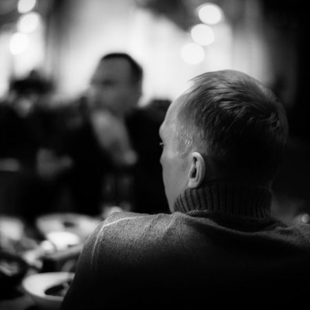 Portrait From Behind Lifestyles Lifestyles Restaurant Focus On Foreground Dof Dark Leica M9-P Headshot Moscow Russia Blackandwhite Indoors  Portrait From Behind Lifestyles Lifestyles Restaurant Focus On Foreground Dof Dark Leica M9-P Headshot Moscow Russia Blackandwhite Indoors  Autumn Mood This Is Natural Beauty Human Connection Redefining Menswear