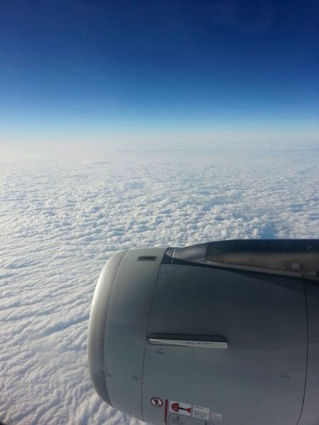 On The Plane ✈ On The Sky Travelling Travelling Photography Sky And Clouds Good Moment Blue Wave Color Of Life