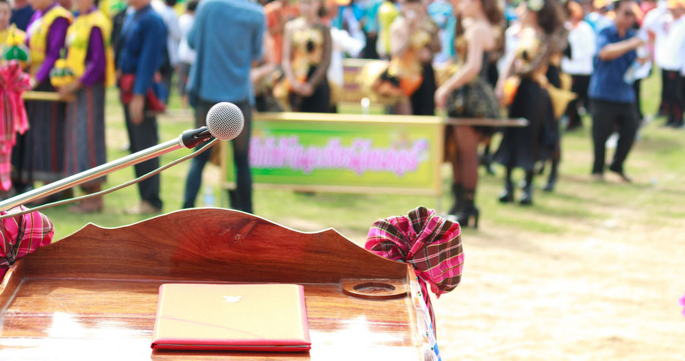 Adult Arts Culture And Entertainment Communication Community Day Focus On Foreground Microphone Microphone Check Microphone Head Microphone Stand Microphones Music Outdoors People