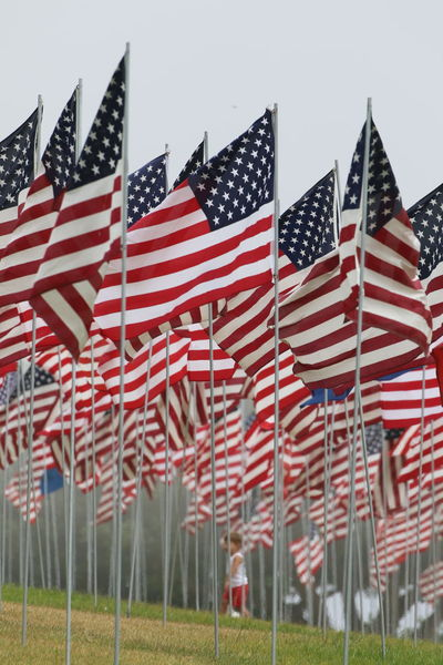 9/11 Memorial Day Flag Flag Pole Independence Low Angle View No People Outdoors Patriotism Pride Red Stars And Stripes