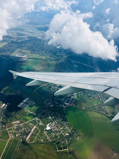 Aerial View from Airplane EyeEmNewHere Landscape Green Color Flying Journey Travel View Flight ✈ My Best Travel Photo EyeEmNewHere