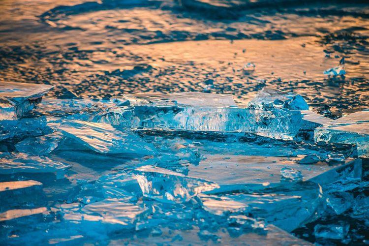 Ice on frozen