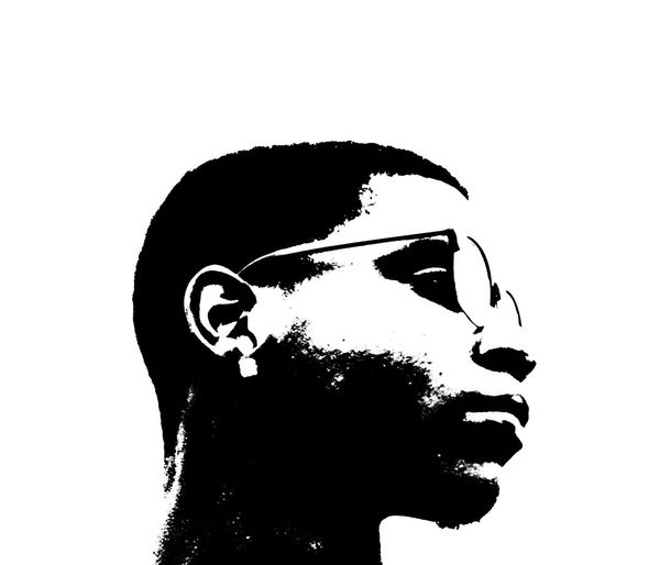 Black And White Campaign Change Headshot Horizon Over Water Malcolmx Men New Age Potrait Side View White Background
