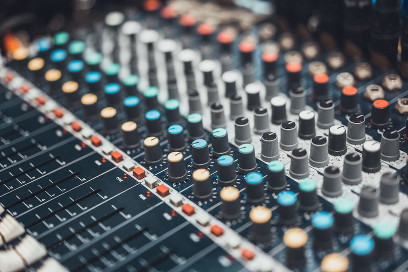 Buttons and knob switches of audio mixer control panel or sound editor, cinematic tone. Digital music technology, concert event, DJ instrumental equipment, movie theater or television industry concept Audio Audio Equipment Audio Mixer Dj Event Music Music Industry Production Show Sound Studio Adjust Audio Electronics Control Panel Equalizer Equipment Media Musical Instrument Radio Station Recording Studio Sound Effects Sound Engineer Sound Mixer Soundboard Volume Control