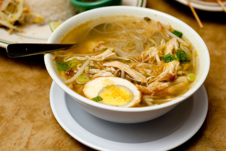 Bowl Eegs Food Freshness Healthy Eating Hot Indonesian Food Noodles Ready-to-eat Soto Still Life Traditional Food