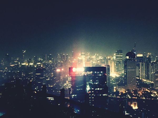 JakartaPolis Jakarta Jakarta Indonesia INDONESIA Jakarta Cityscape Building Panorama Panoramic Photography Hello World Night Night Lights Top Perspective On The Top